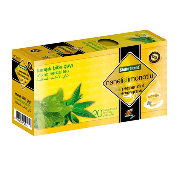 Shiffahome Nane - Limon Otlu Karışık Bitki Çayı 20 Süzen (2`li Paket)