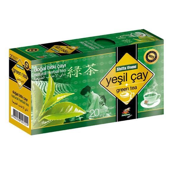 Shiffahome Yeşil Çay 20 Süzen (2`li Paket)